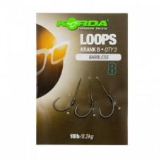 Поводок готовый Korda Loop Rigs Krank Barbless №8 18 lb безбородый