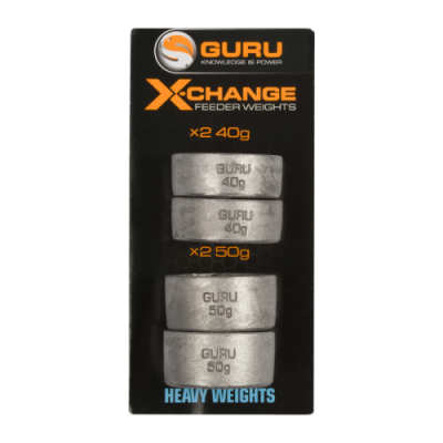 Сменный груз для кормушек Guru X-Change Distance Feeder Weights Heavy 40гр + 50гр
