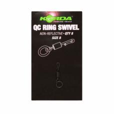Вертлюг с кольцом и быстросъемом Korda Kwick Change Swivel №8