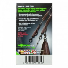 Безопасная клипса с кольцом Korda Hybrid Lead Clips Weed