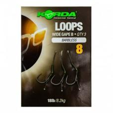Поводок готовый Korda Loop Rigs DF Wide Gape Barbless №8 18lb безбородый
